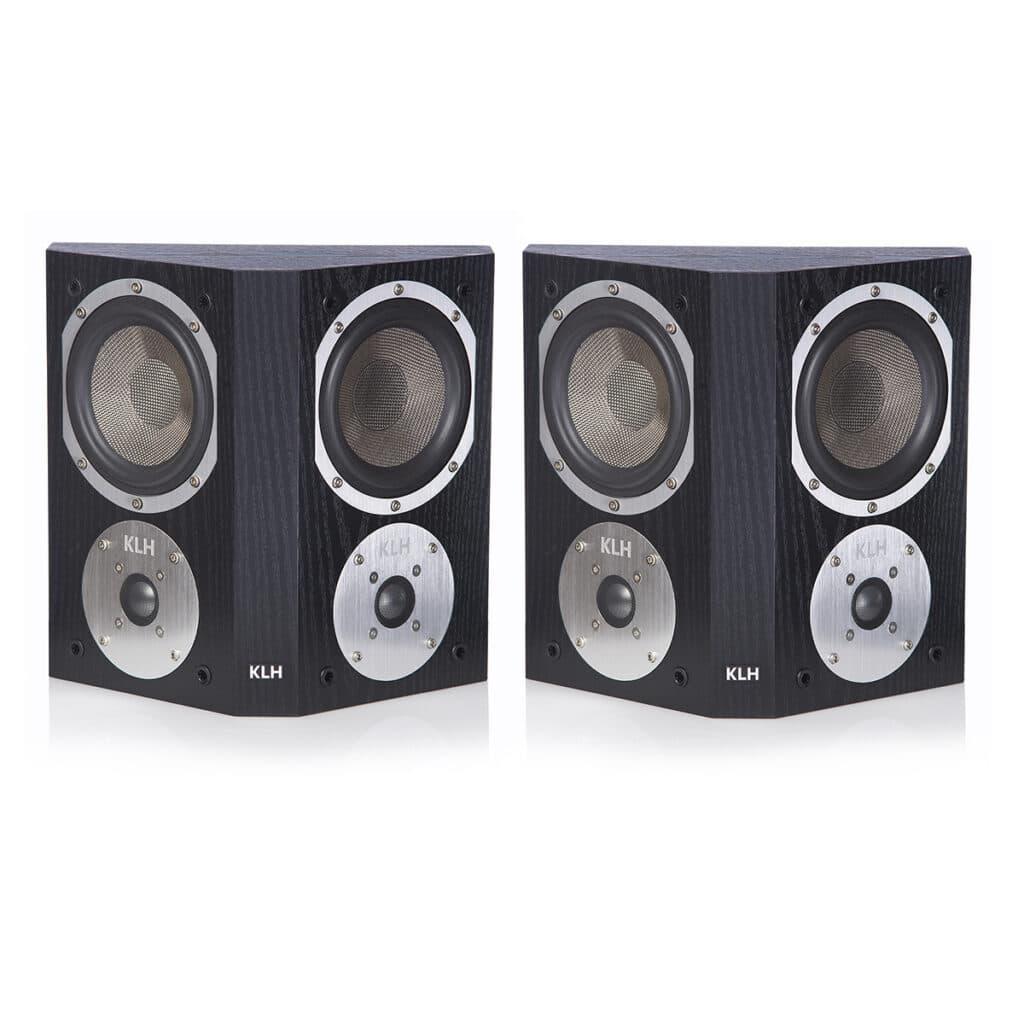KLH Beacon Surround Sound Speaker Pair (Black Oak)