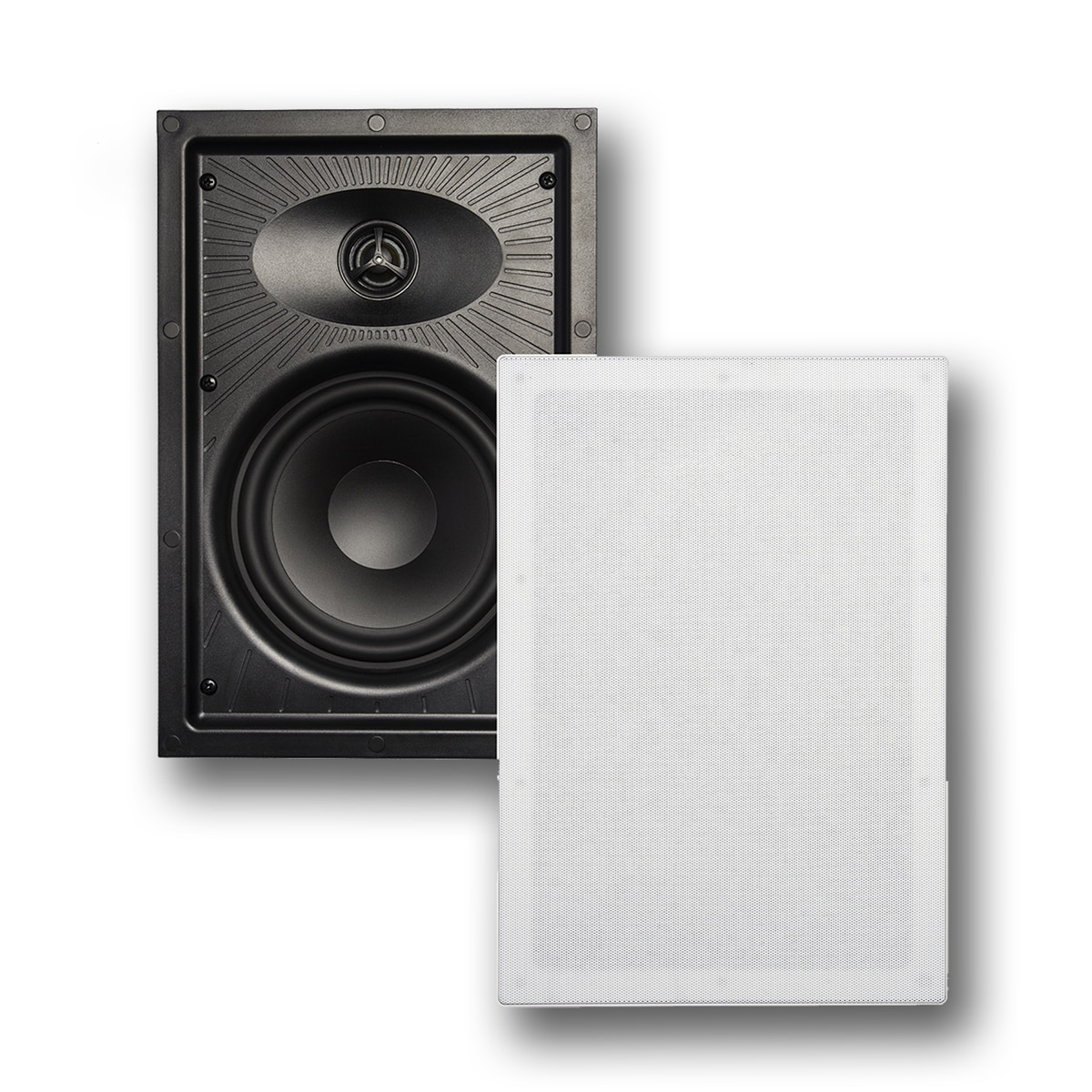 In Wall Speakers: Faraday Series F-6600 Front and Grille