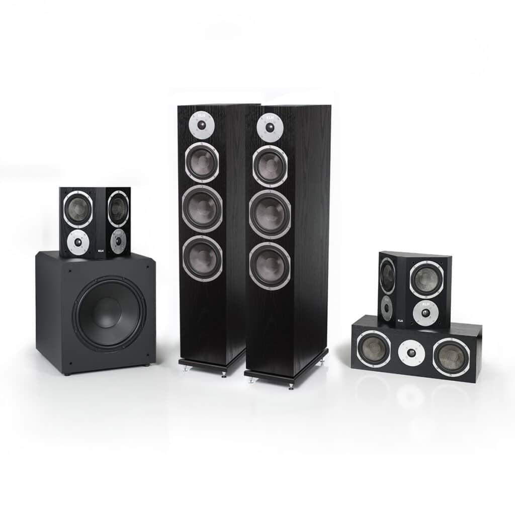 Kendall Black Oak Speaker Audio System with 12 inch subwoofer