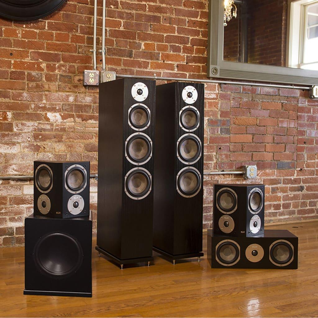 KLH Beacon Surround Sound 5.1 Speaker Windsor (Black Oak)