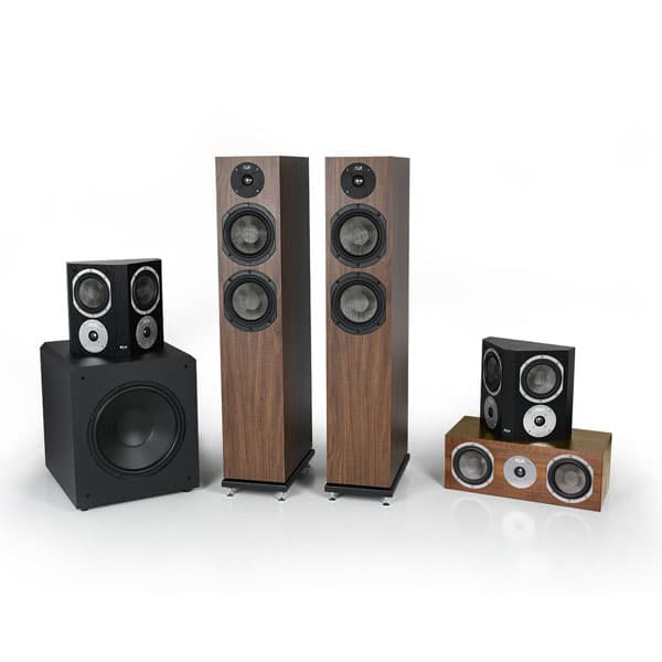 Concord 5.1 home theater system grills off